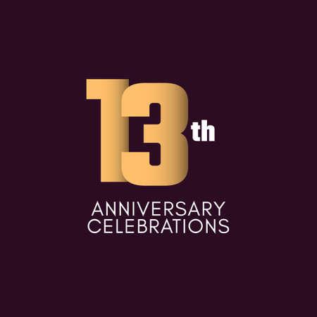 13 th Anniversary Celebration Vector Template Design Illustration Illustration