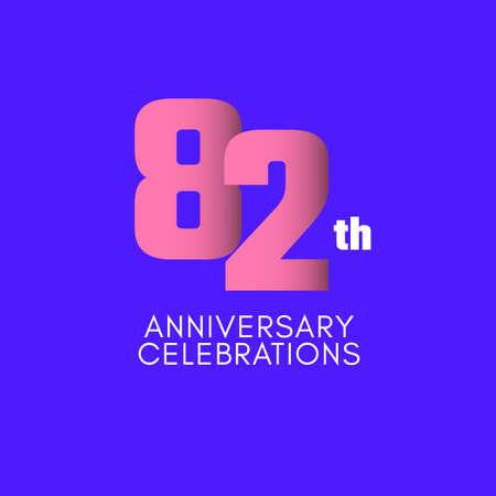 82 th Anniversary Celebration Vector Template Design Illustration