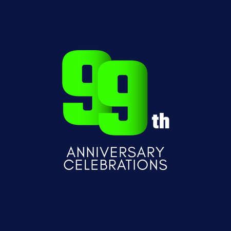 99 th Anniversary Celebration Vector Template Design Illustration