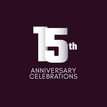 15 th Anniversary Celebration Vector Template Design Illustration Illustration