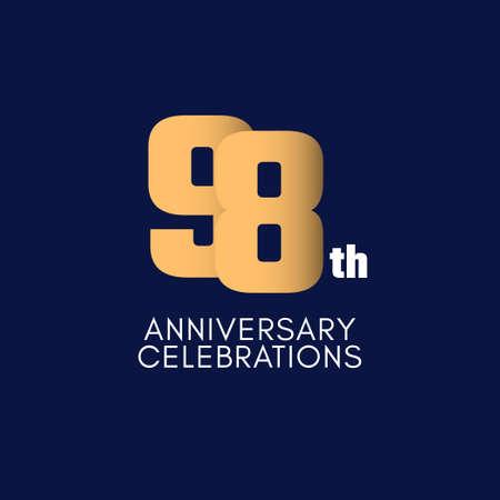 98 th Anniversary Celebration Vector Template Design Illustration Illustration