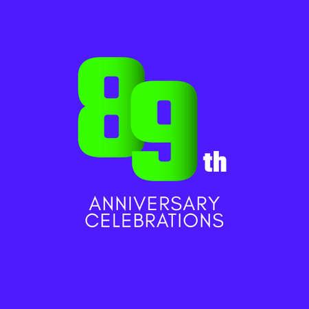 89 th Anniversary Celebration Vector Template Design Illustration