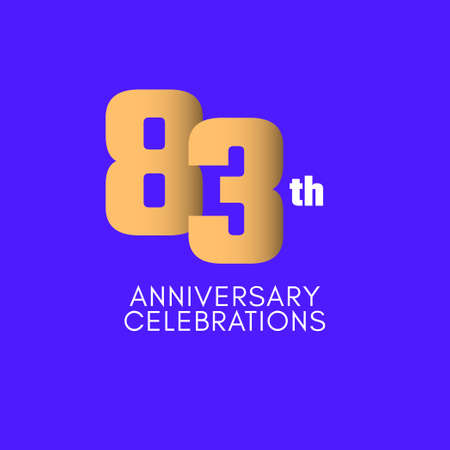 83 th Anniversary Celebration Vector Template Design Illustration Illustration