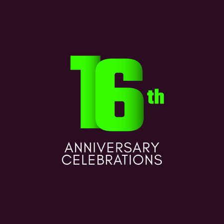 16 th Anniversary Celebration Vector Template Design Illustration Stockfoto - 157945105
