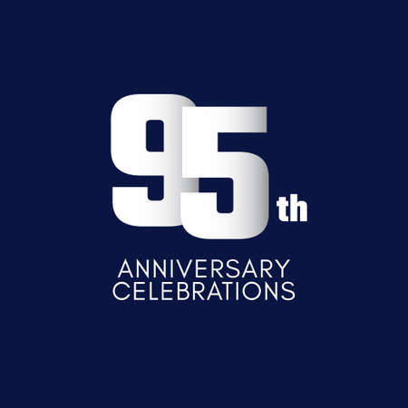 95 th Anniversary Celebration Vector Template Design Illustration Stockfoto - 157945106