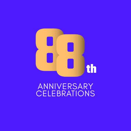 88 th Anniversary Celebration Vector Template Design Illustration