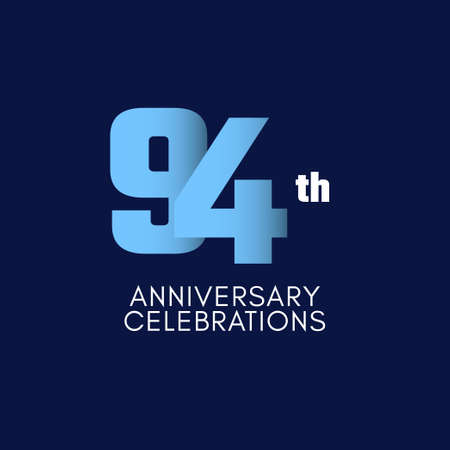 94 th Anniversary Celebration Vector Template Design Illustration Illustration