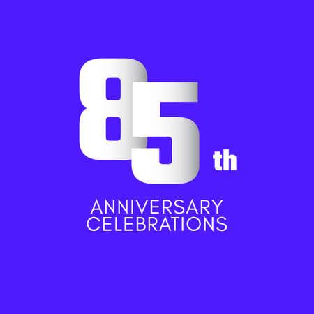 85 th Anniversary Celebration Vector Template Design Illustration