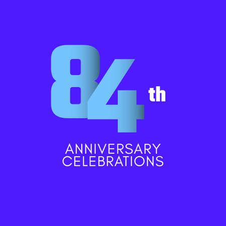 84 th Anniversary Celebration Vector Template Design Illustration