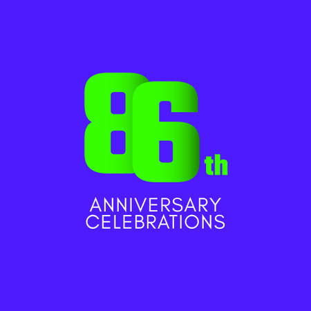 86 th Anniversary Celebration Vector Template Design Illustration