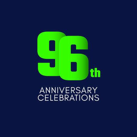 96 th Anniversary Celebration Vector Template Design Illustration