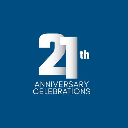 21 th Anniversary Celebration Vector Template Design Illustration