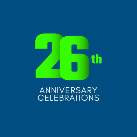 26 th Anniversary Celebration Vector Template Design Illustration