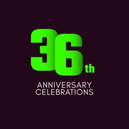 36 th Anniversary Celebration Vector Template Design Illustration