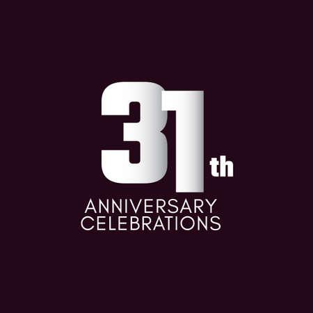 31 th Anniversary Celebration Vector Template Design Illustration