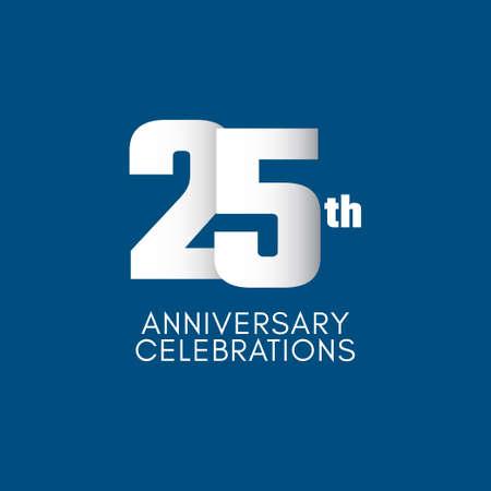 25 th Anniversary Celebration Vector Template Design Illustration