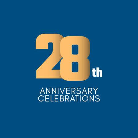 28 th Anniversary Celebration Vector Template Design Illustration Illustration