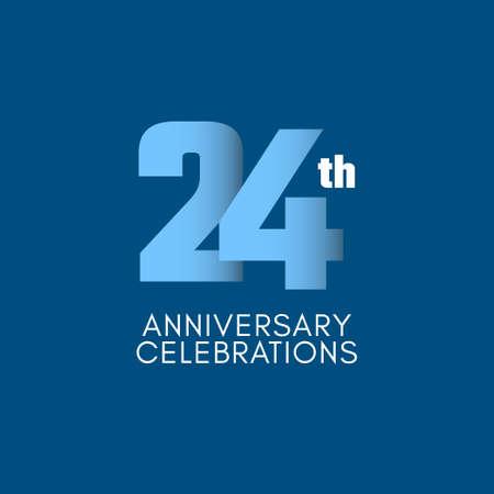 24 th Anniversary Celebration Vector Template Design Illustration