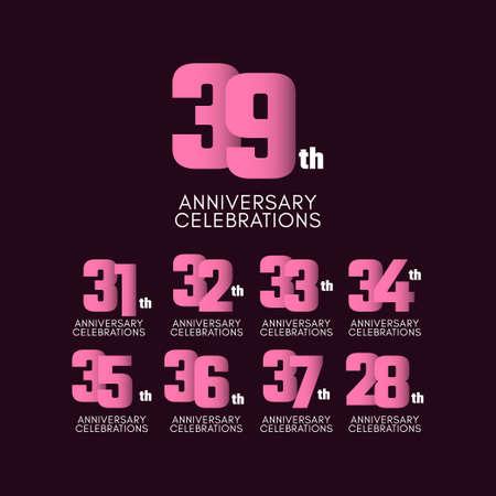 39 th Anniversary Celebration Vector Template Design Illustration Stockfoto - 157945131
