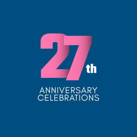 27 th Anniversary Celebration Vector Template Design Illustration