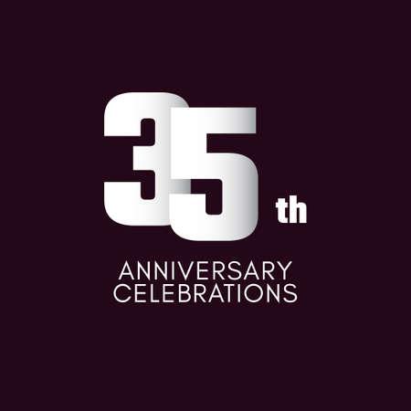 35 th Anniversary Celebration Vector Template Design Illustration
