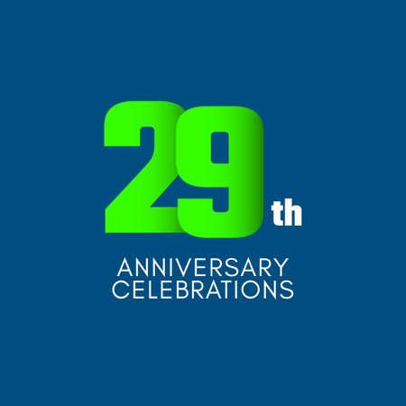 29 th Anniversary Celebration Vector Template Design Illustration