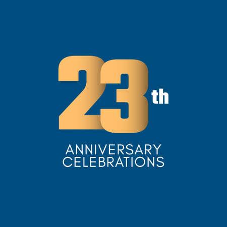 23 th Anniversary Celebration Vector Template Design Illustration