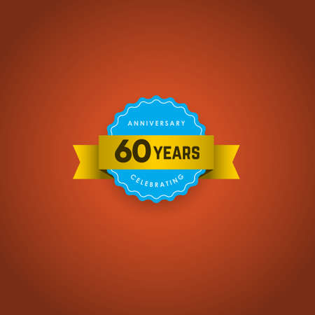 60 Years Anniversary Celebration Vector Template Design Illustration Stockfoto - 157945151