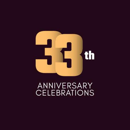 33 th Anniversary Celebration Vector Template Design Illustration