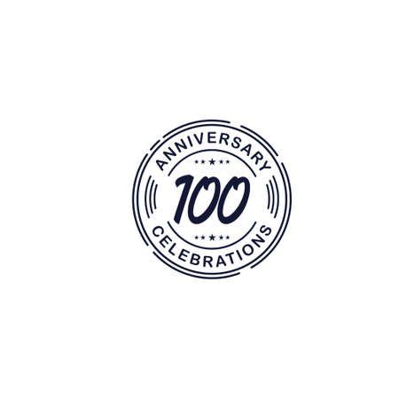 100 Years Anniversary Celebration Retro Vector Template Design Illustration Stock Illustratie