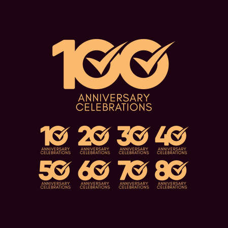 100 Years Anniversary Celebration Full Color Vector Template Design Illustration Stock Illustratie