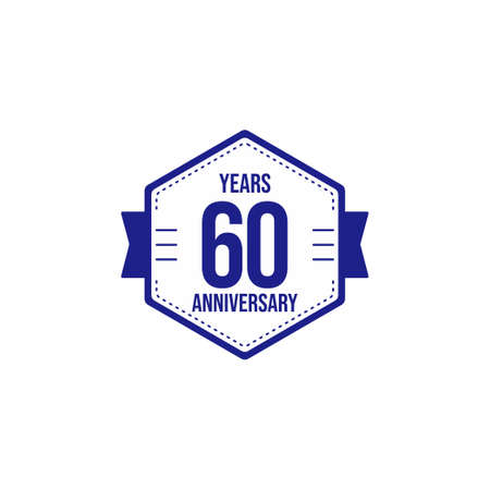 60 Years Anniversary Celebration Vector Template Design Illustration