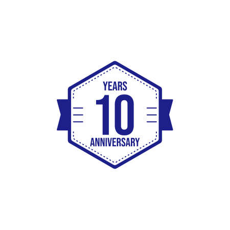 10 Years Anniversary Celebration Vector Template Design Illustration Stock Illustratie