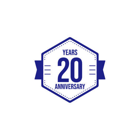 20 Years Anniversary Celebration Vector Template Design Illustration