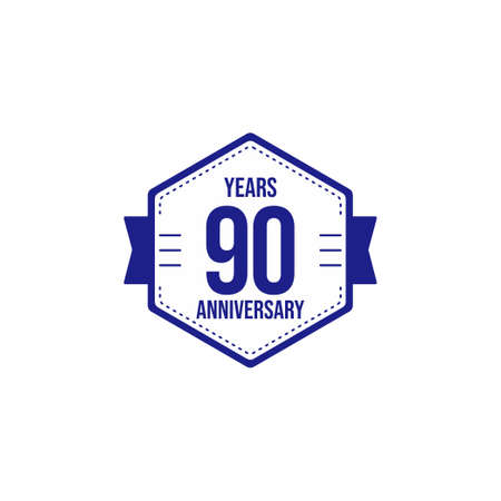 90 Years Anniversary Celebration Vector Template Design Illustration