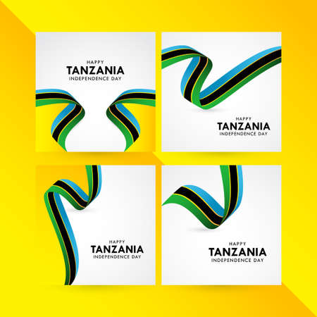 Happy Tanzania Independence Day Celebration Vector Template Design Illustration