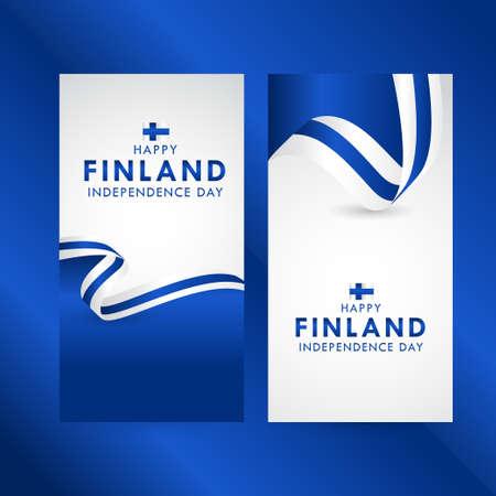 Happy Finland Independence Day Celebration Vector Template Design Illustration Vektorgrafik