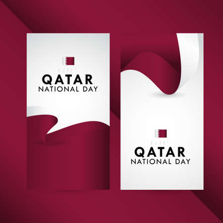 Happy Qatar National Day Celebration Vector Template Design Illustration
