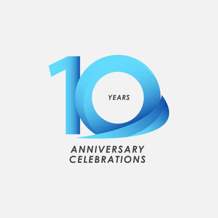 10 Years Anniversary Celebrations Vector Template Design Illustration
