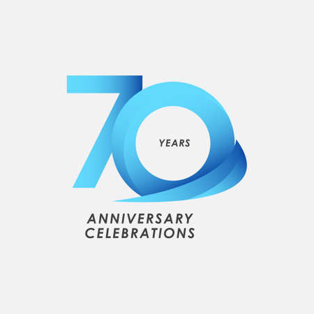 70 Years Anniversary Celebrations Vector Template Design Illustration
