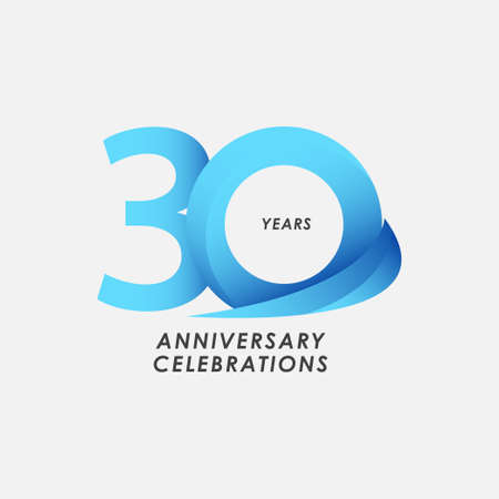 30 Years Anniversary Celebrations Vector Template Design Illustration Stock Illustratie