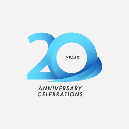 20 Years Anniversary Celebrations Vector Template Design Illustration Stock Illustratie