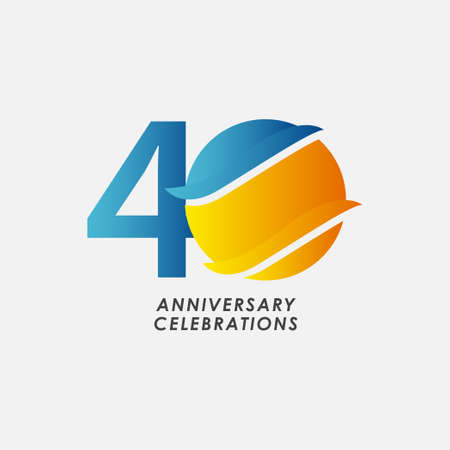 40 Years Anniversary Celebrations Vector Template Design Illustration