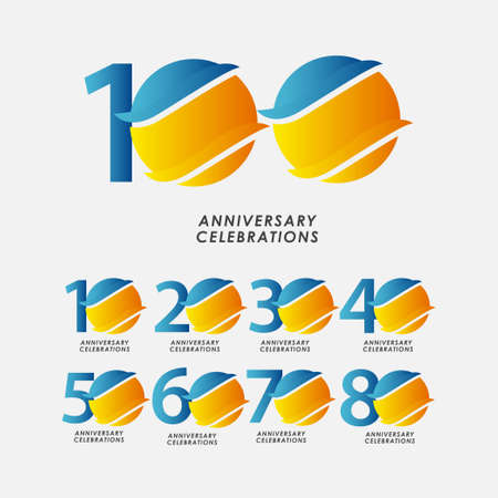 100 Years Anniversary Celebrations Vector Template Design Illustration Stock Illustratie