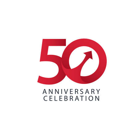 50 Years Anniversary Celebration Vector Template Design Illustration Stock Illustratie