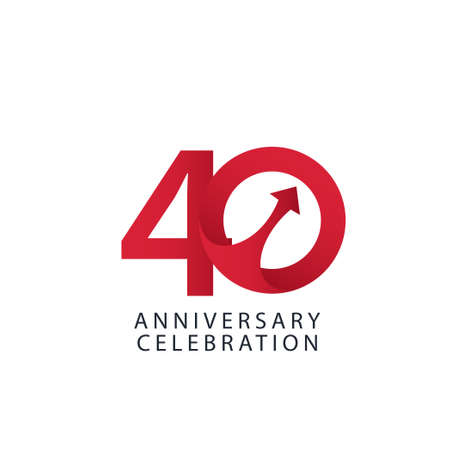 40 Years Anniversary Celebration Vector Template Design Illustration