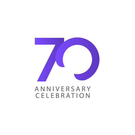70 Years Anniversary Celebration Vector Template Design Illustration Stock Illustratie