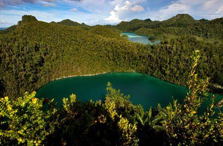 Beautiful landscape scenery of Wayag Island in Raja Ampat, West Papua, Indonesia