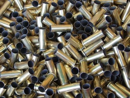 warheads: closeup of  bullets  Stock Photo