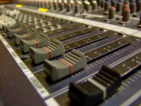 speed of sound: Mixing console   Stock Photo